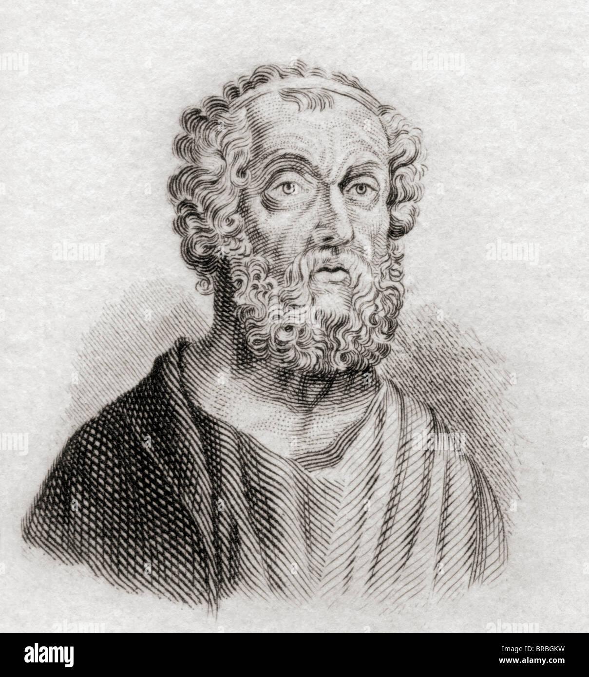 Homer. Greek epic poet. - Stock Image