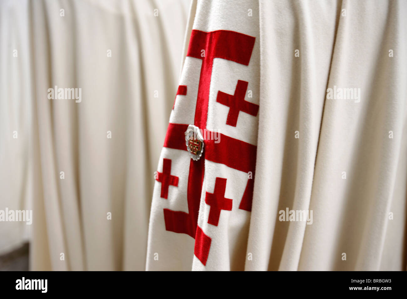 Knights of the Holy Sepulchre, Paris, France - Stock Image
