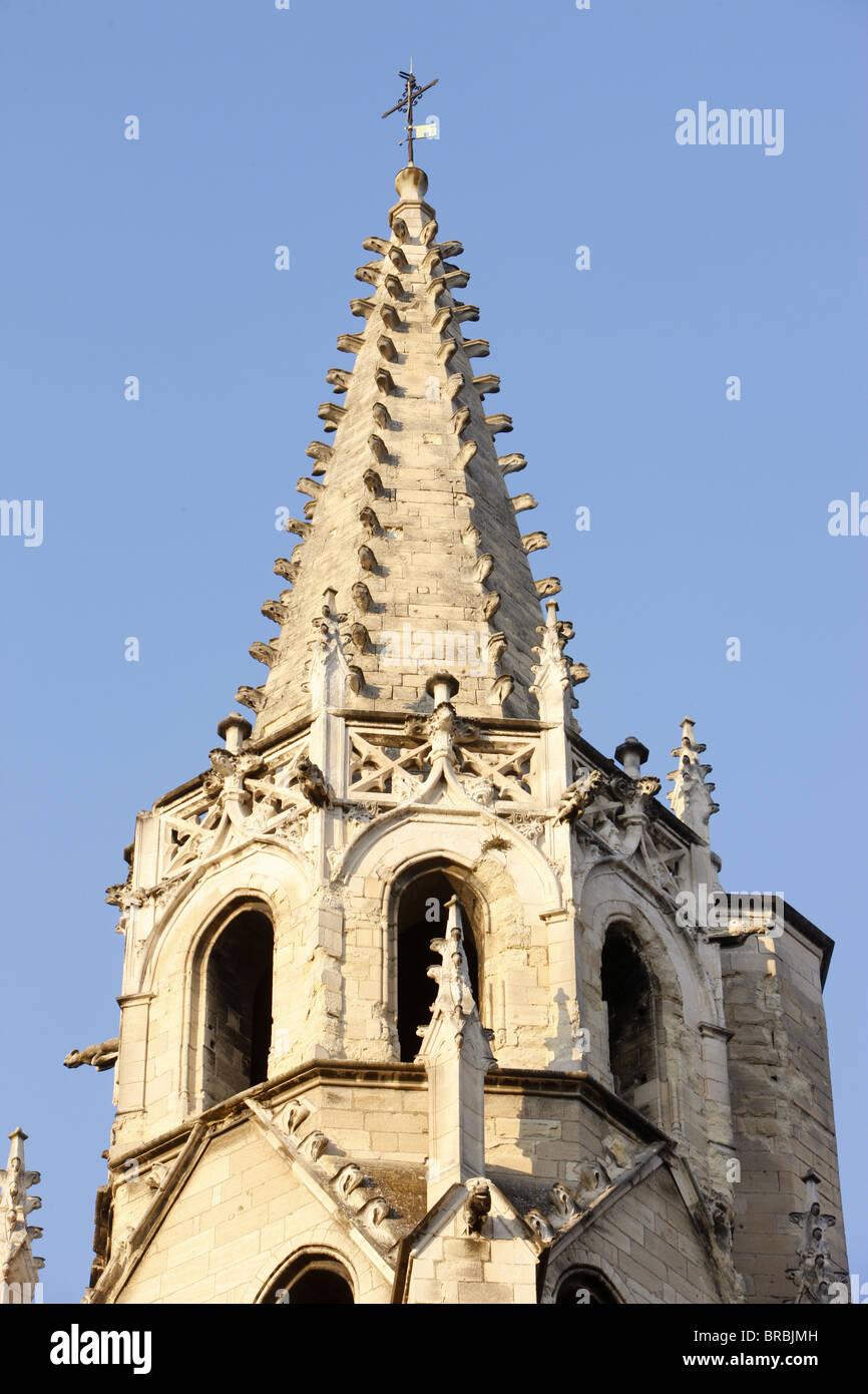 St. Peter's church spire, Avignon, Vaucluse, France - Stock Image