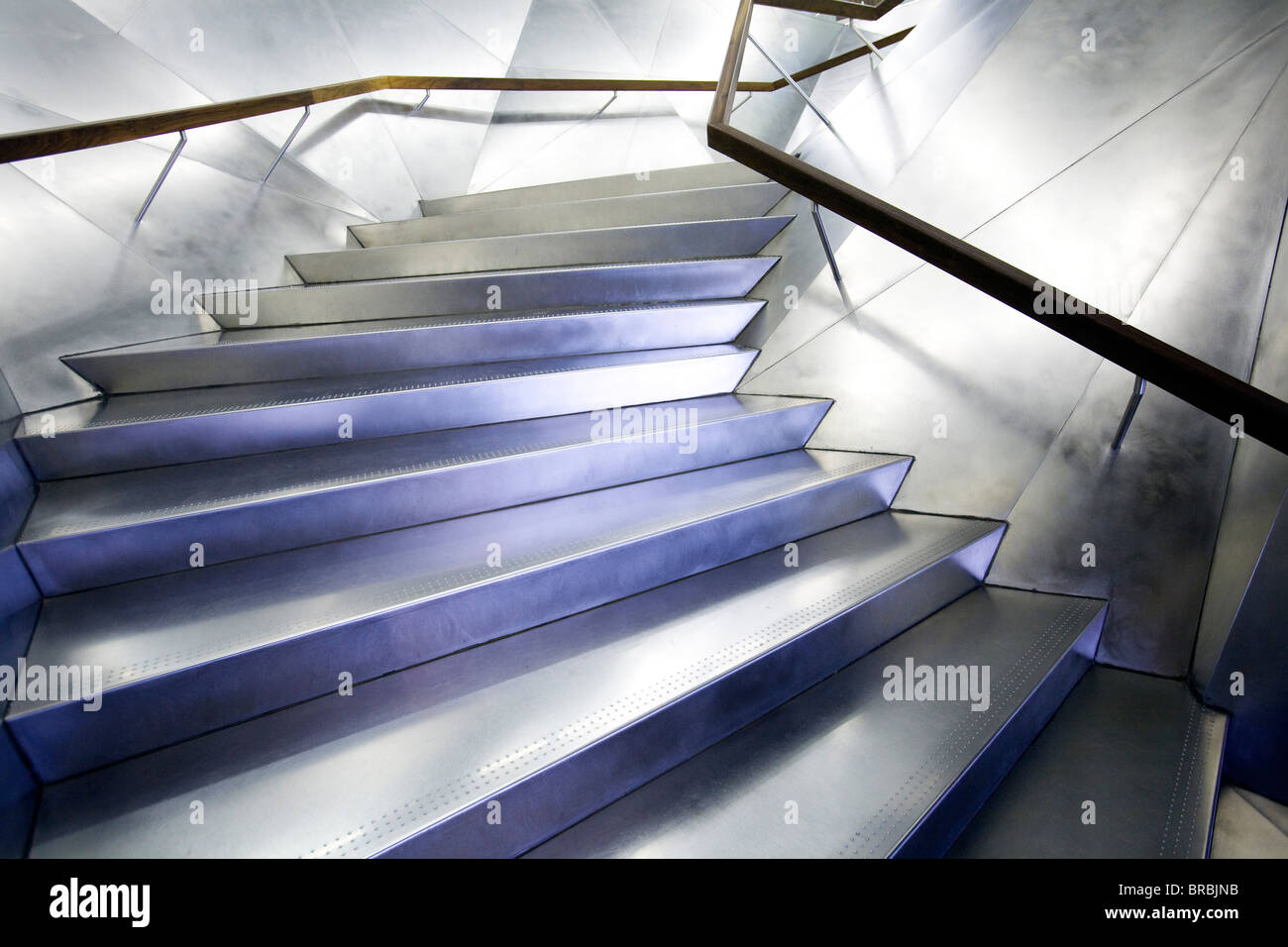 Flight of stairs in CaixaForum, Madrit, Spain - Stock Image