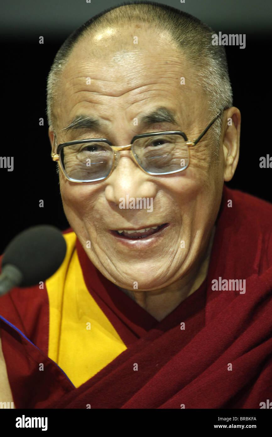 H.H. Dalai Lama in Paris-Bercy, France - Stock Image