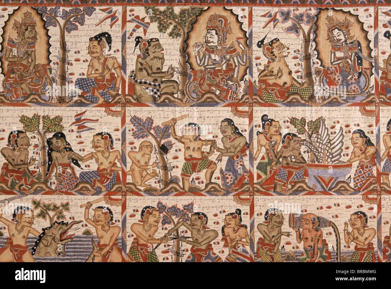 Balinese calendar, Bali, Indonesia - Stock Image