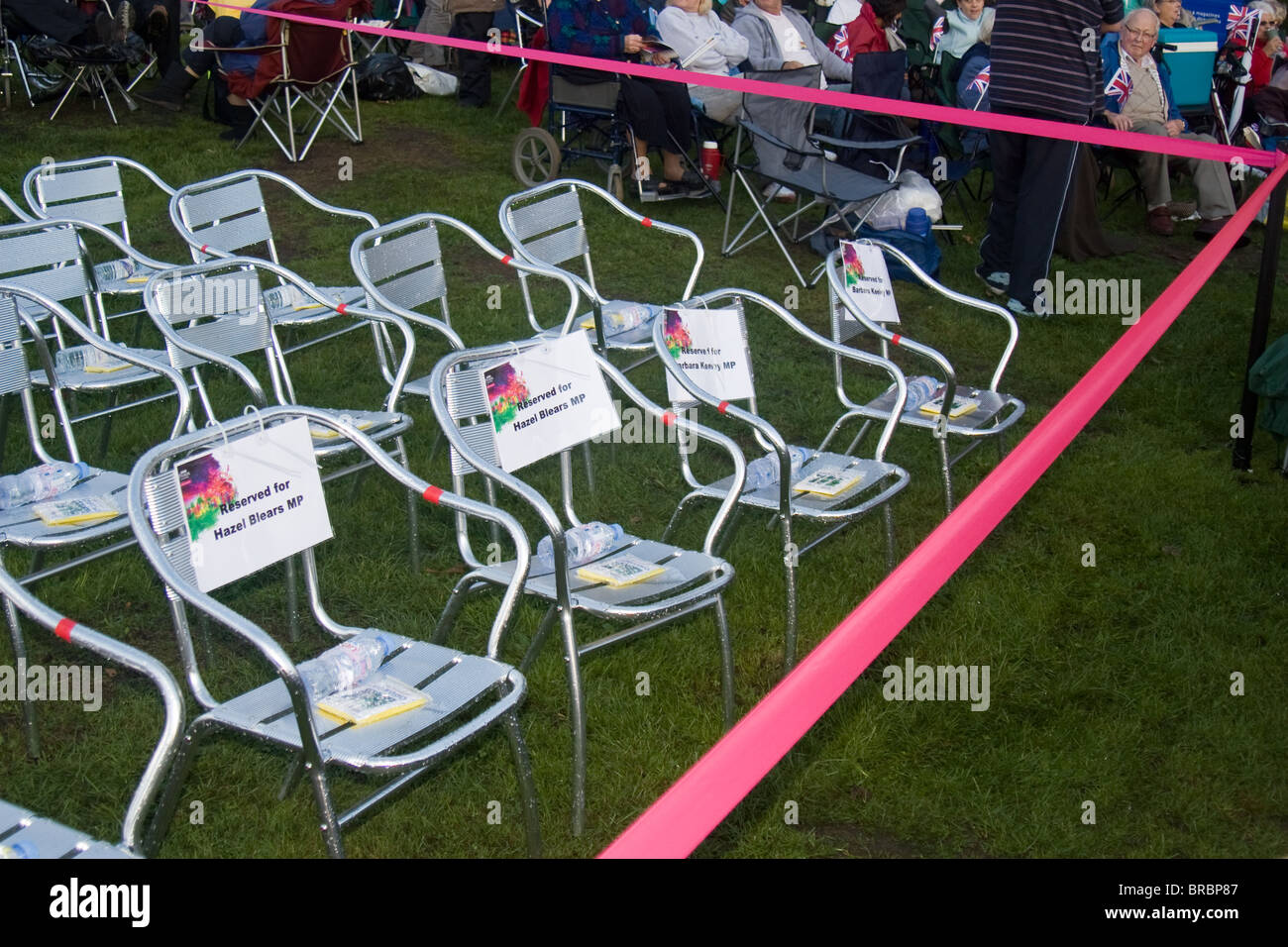 VIP area, BBC Proms in the Park, Buile Hill Park, Salford, Greater Manchester, England, UK - Stock Image