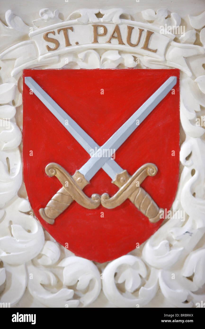 St. Paul's arms, Valletta, Malta - Stock Image