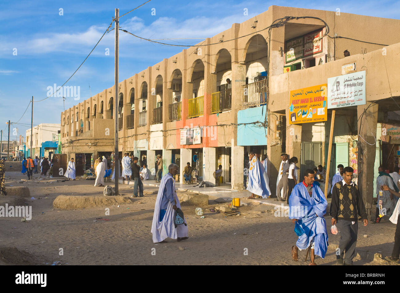 Central bazaar of Nouakchott, Mauritania - Stock Image