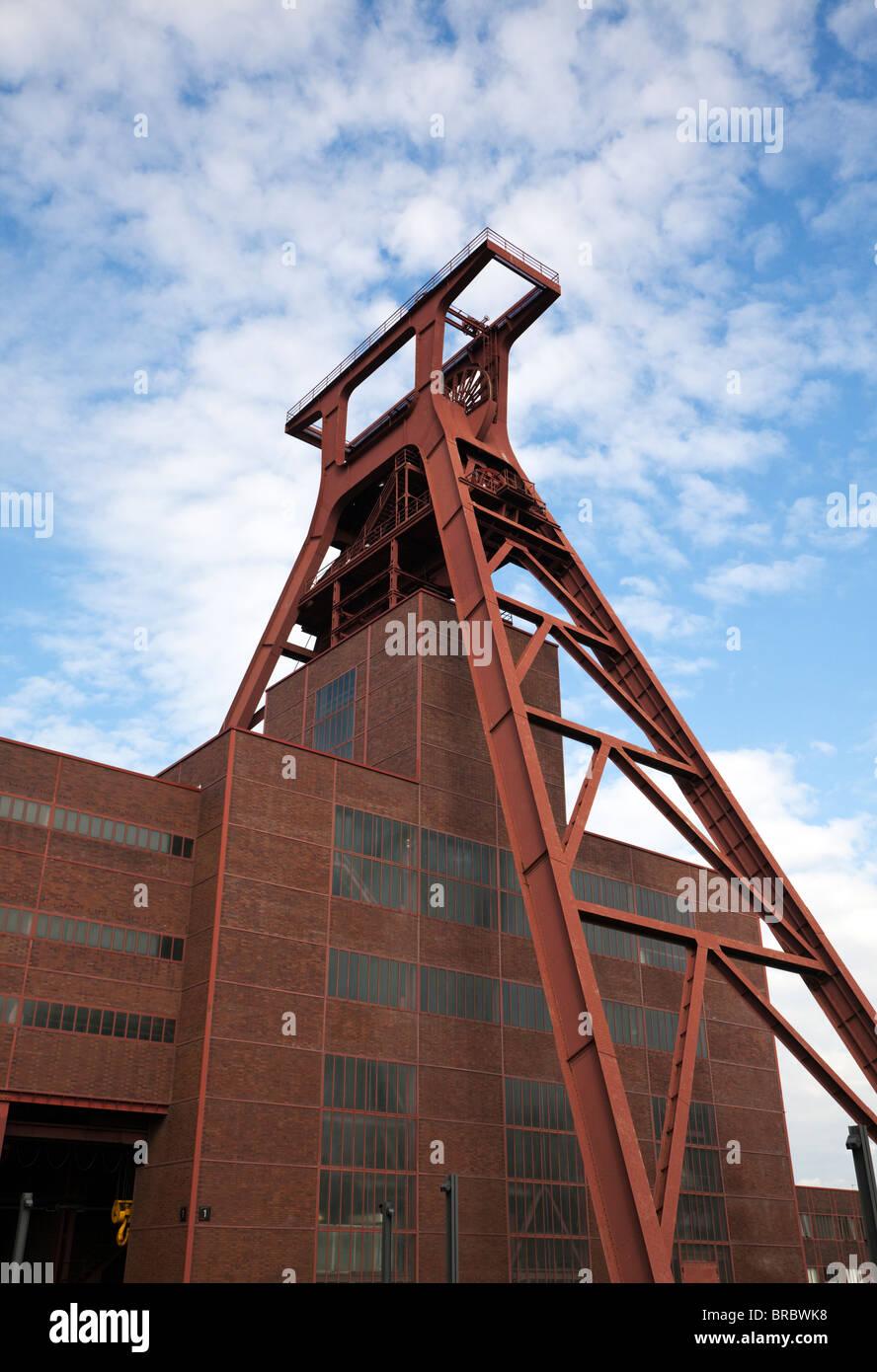 Shaft 12 of Zollverein Coal Mine Industrial Complex in Essen, UNESCO World Heritage Site - Stock Image