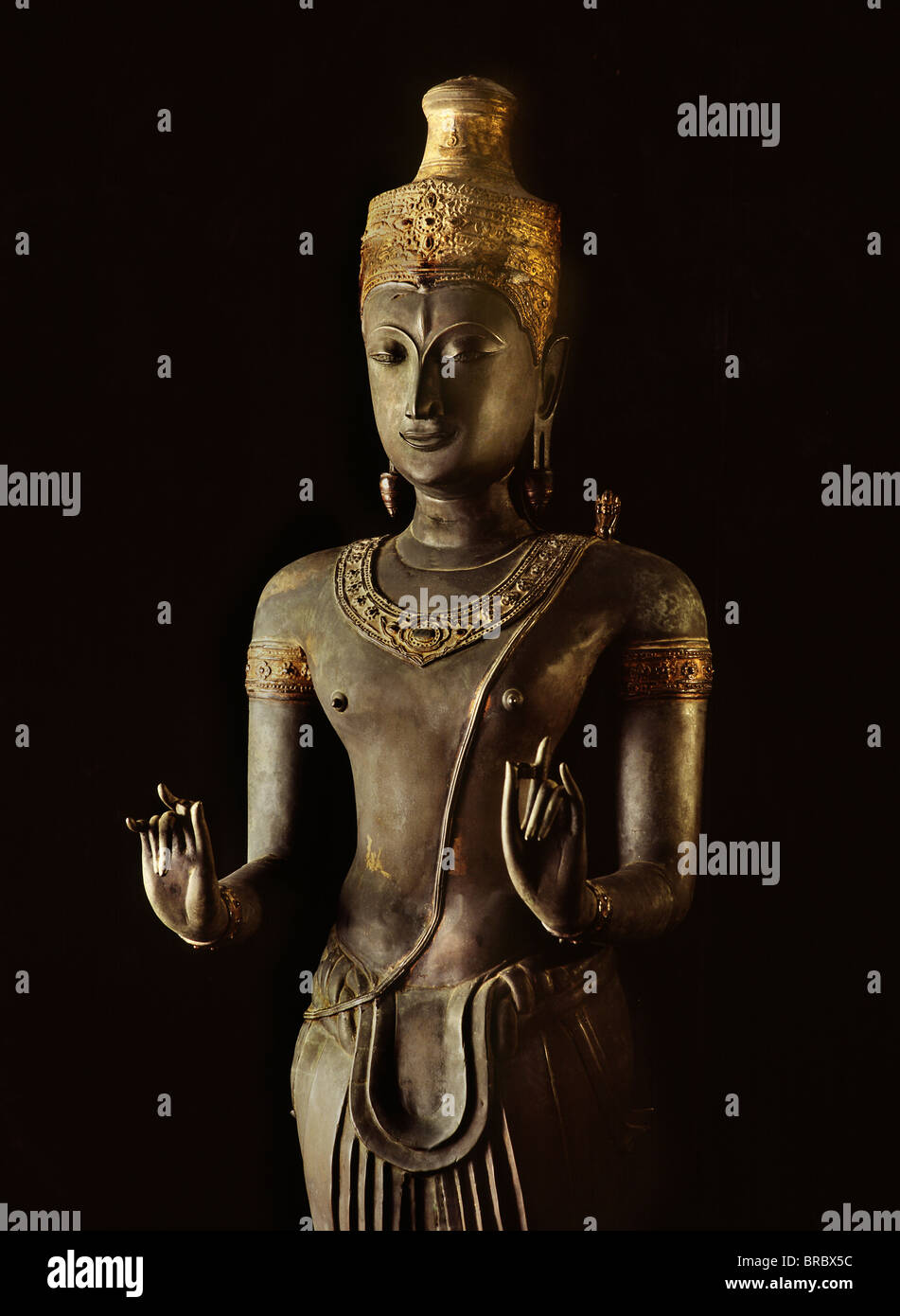 A 14th century bronze image of Shiva, now in National Museum, Bangkok, Thailand - Stock Image