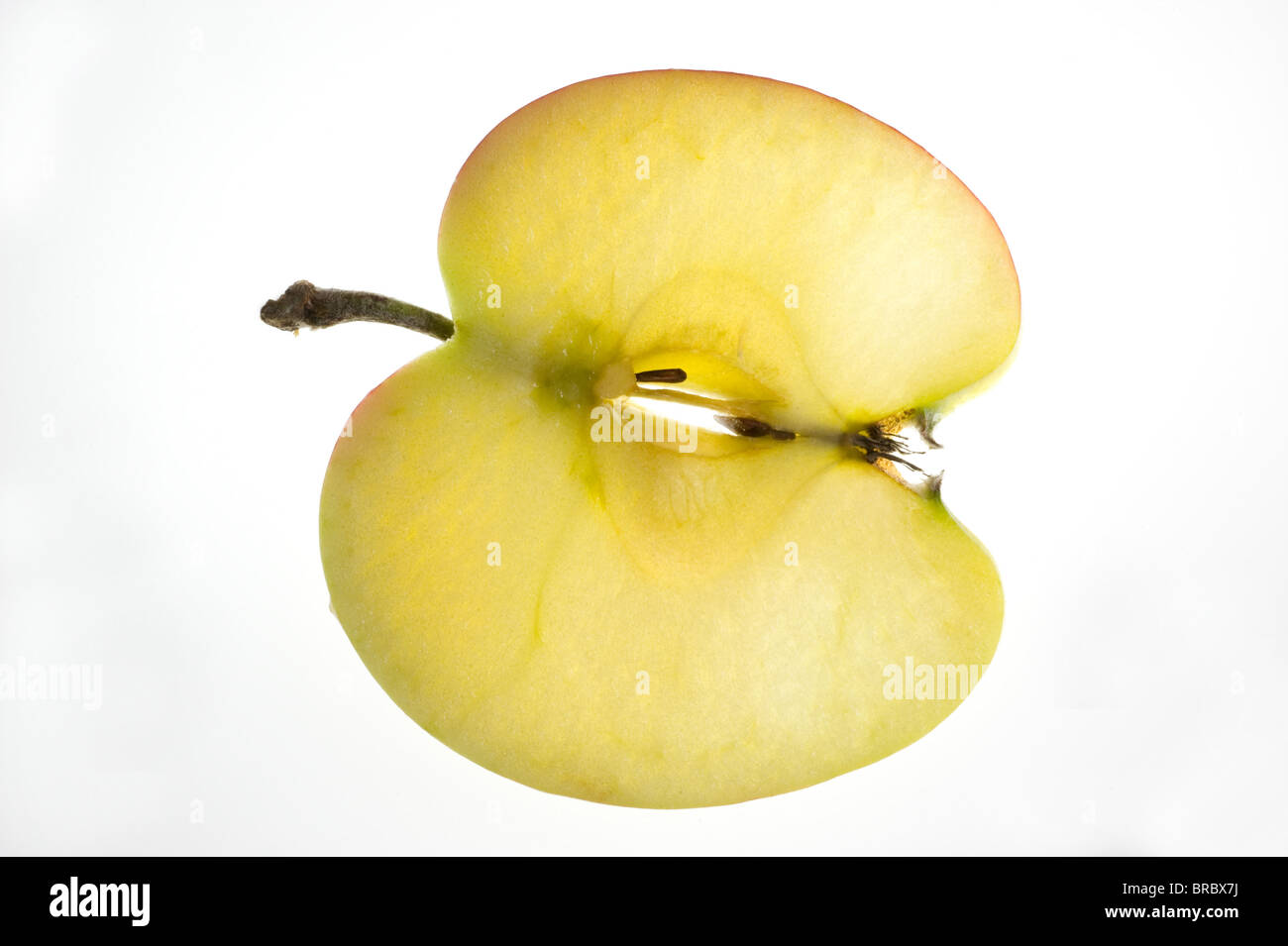 A slice of apple - Stock Image