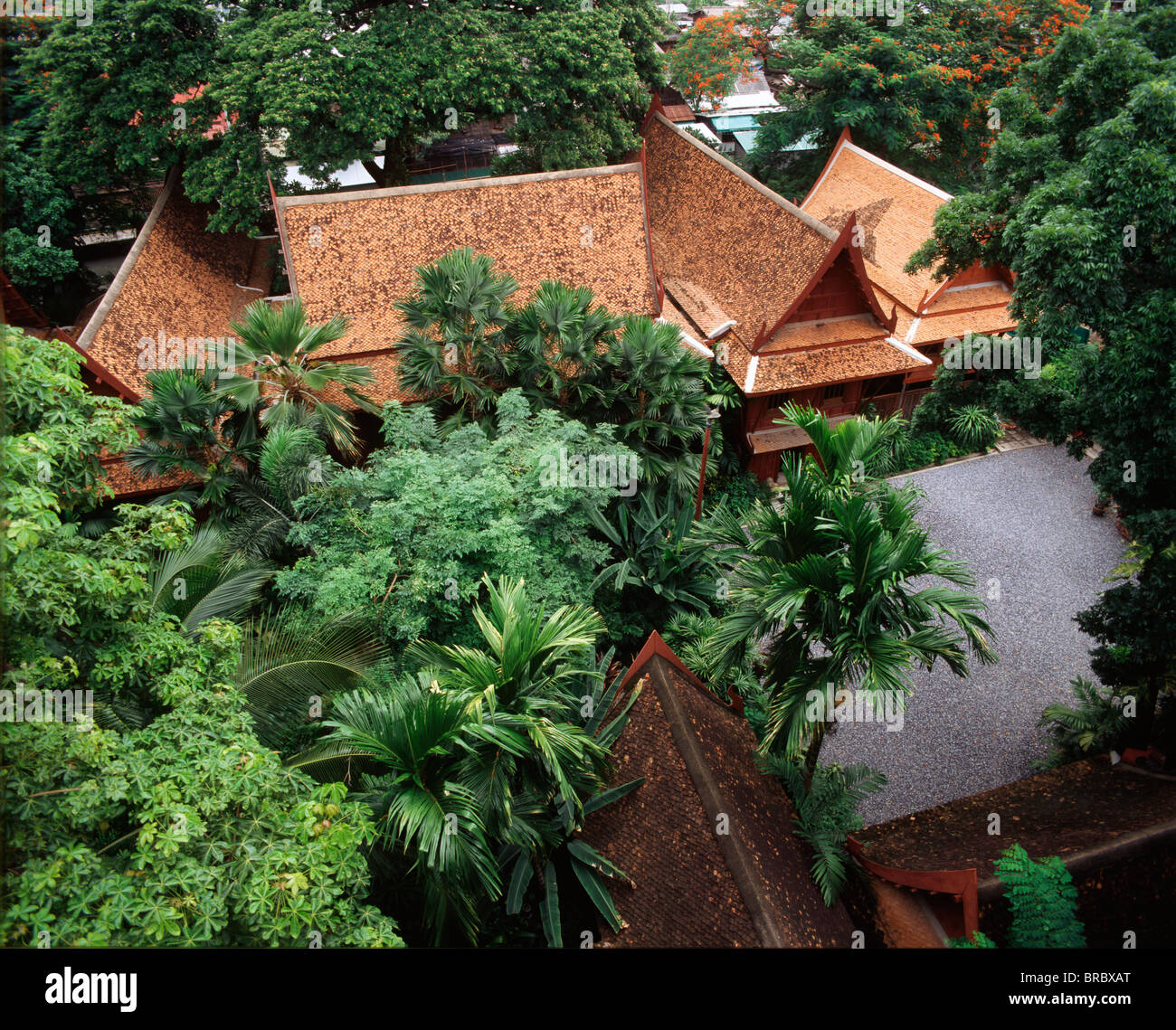 Garden of Jim Thompson House, Bangkok, Thailand - Stock Image