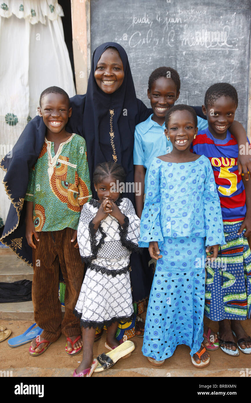 Muslim family, Lome, Togo, West Africa Stock Photo