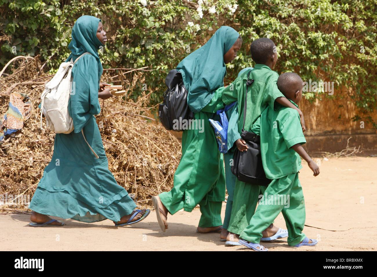 Muslim schoolchildren, Lome, Togo, West Africa - Stock Image