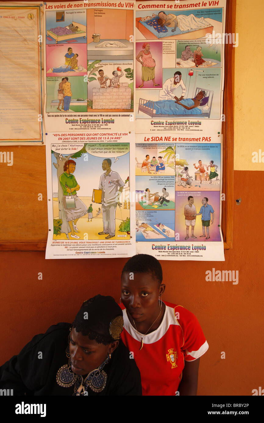 Aids awareness campaign, Lome, Togo, West Africa - Stock Image