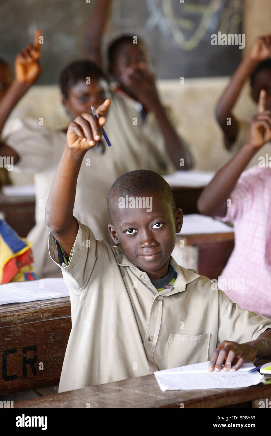 African school, Lome, Togo, West Africa Stock Photo