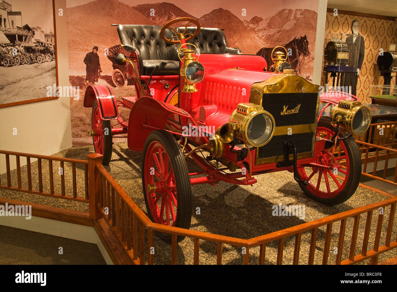 Automobile at the Nevada State Museum, Carson City, Nevada, USA - Stock Image