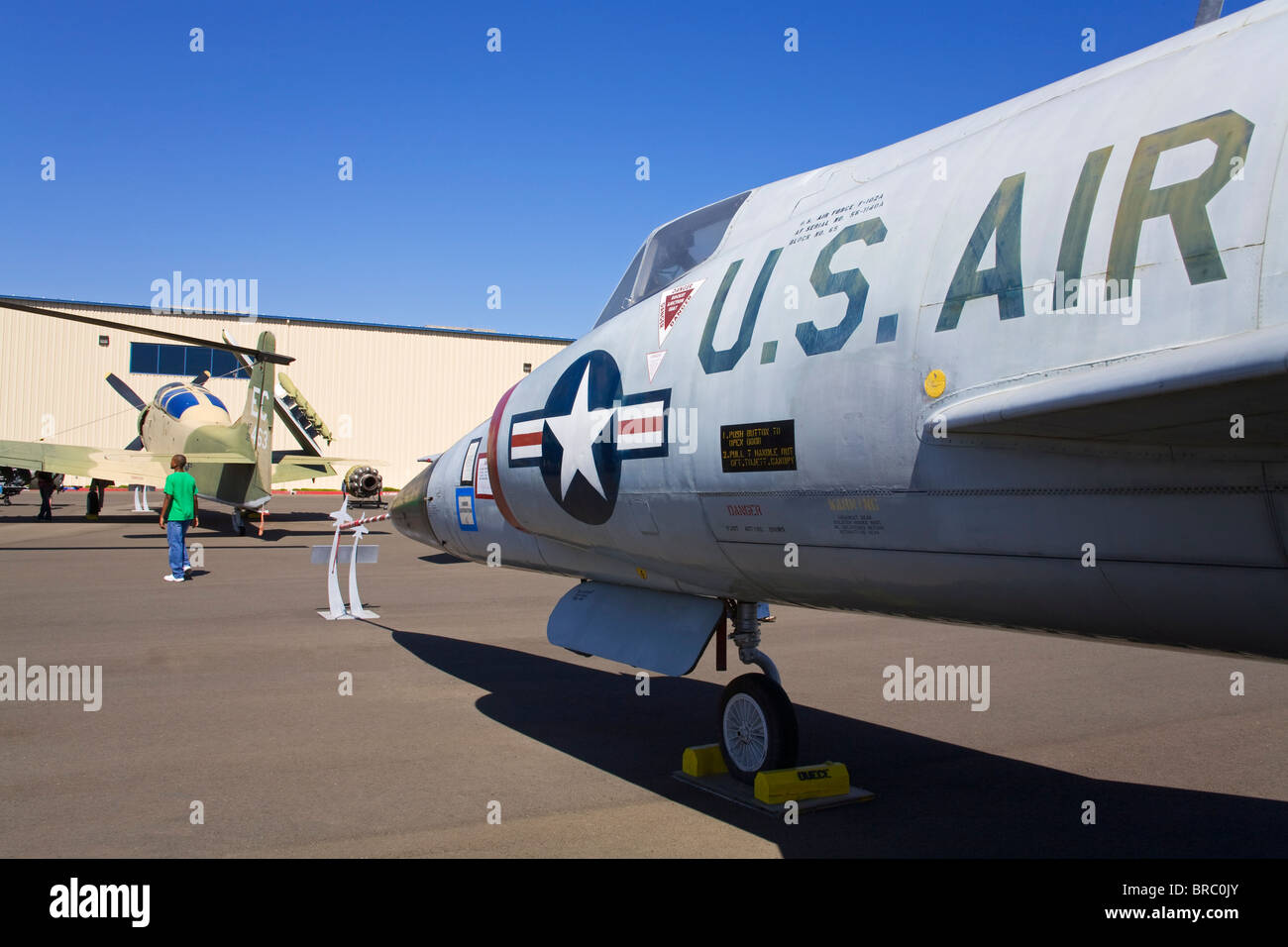 Convair F-102 Delta Dagger at the Aerospace Museum of California, Sacramento, California, USA - Stock Image