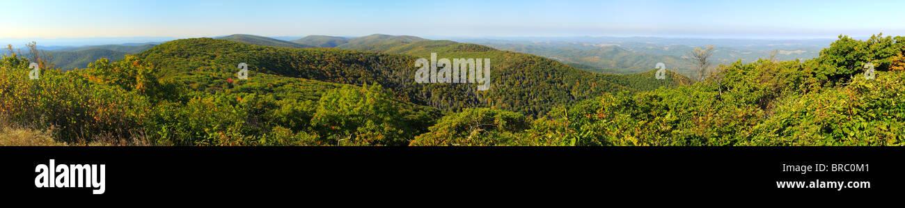 View From Reddish Knob in George Washington National Forest near Dayton, Virginia, USA - Stock Image