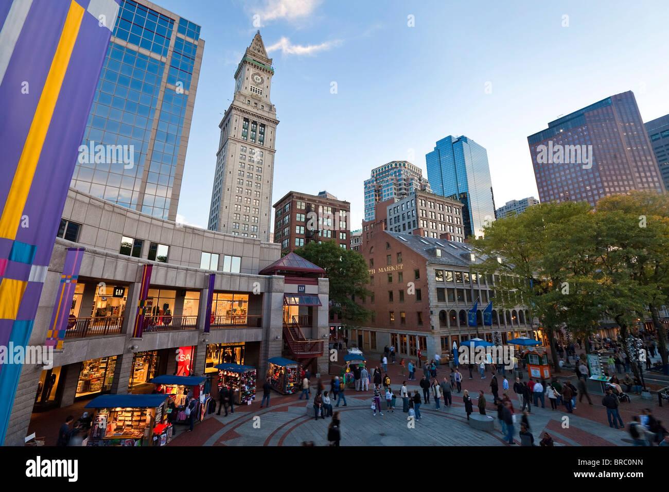 Quincy Market, Boston, Massachusetts, New England, USA - Stock Image