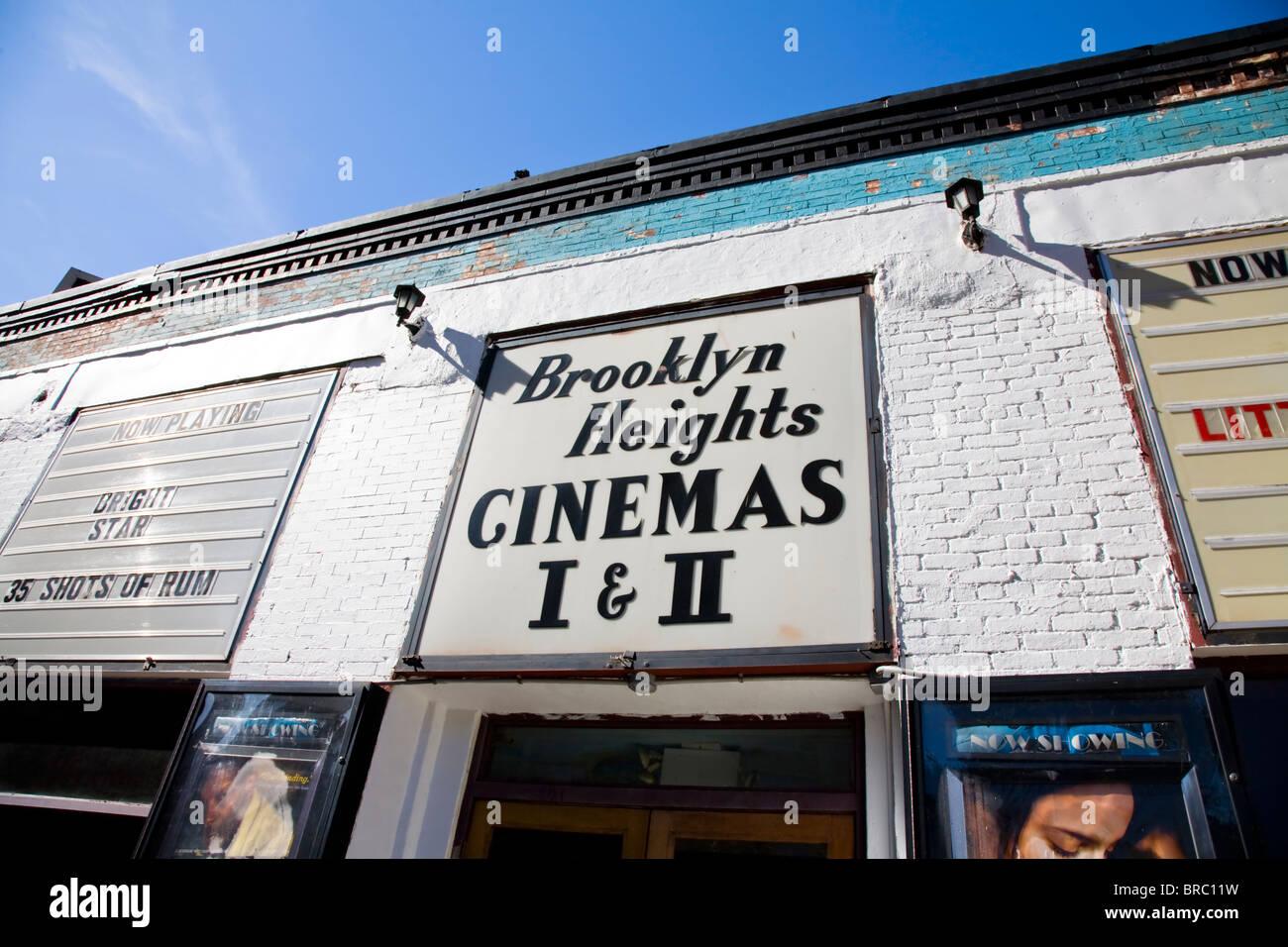 Cool cinema in Brooklyn New York - Stock Image