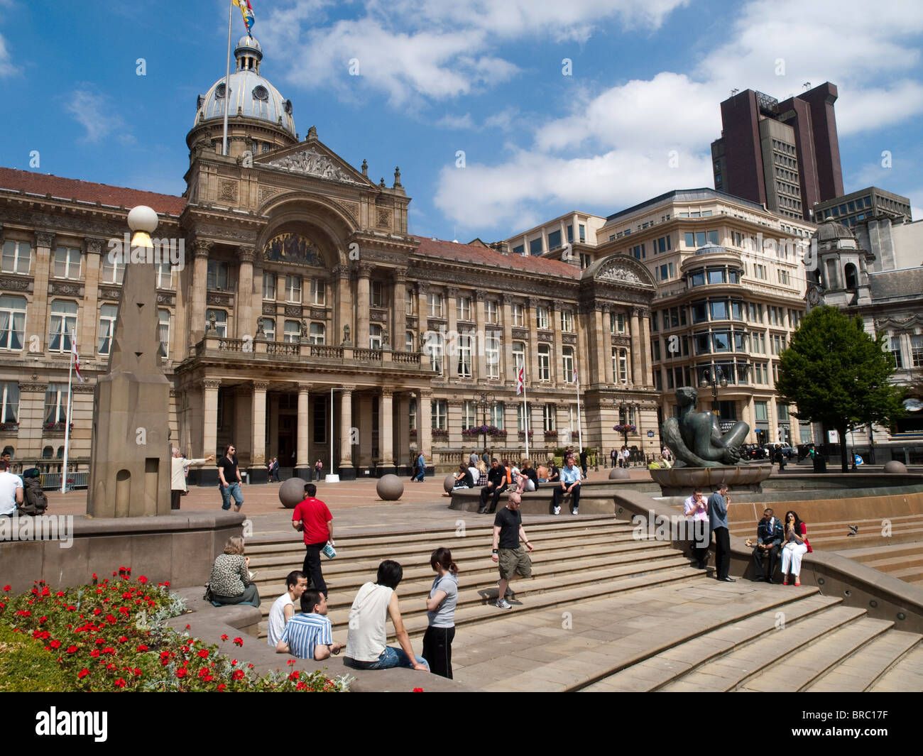 Victoria Square in Birmingham City Centre, West Midlands England UK - Stock Image