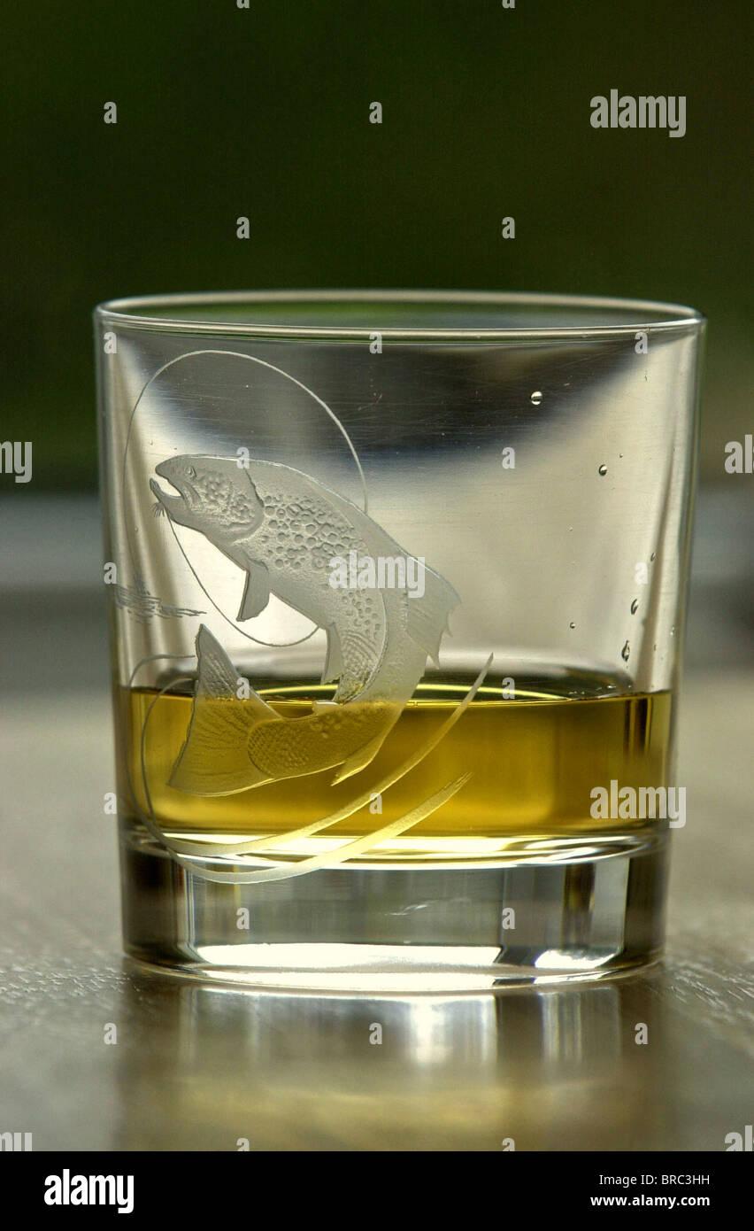 Alcoholic beverage, drink, fermented, social problems. MALT WHISKY MALT WHISKEY SINGLE - Stock Image