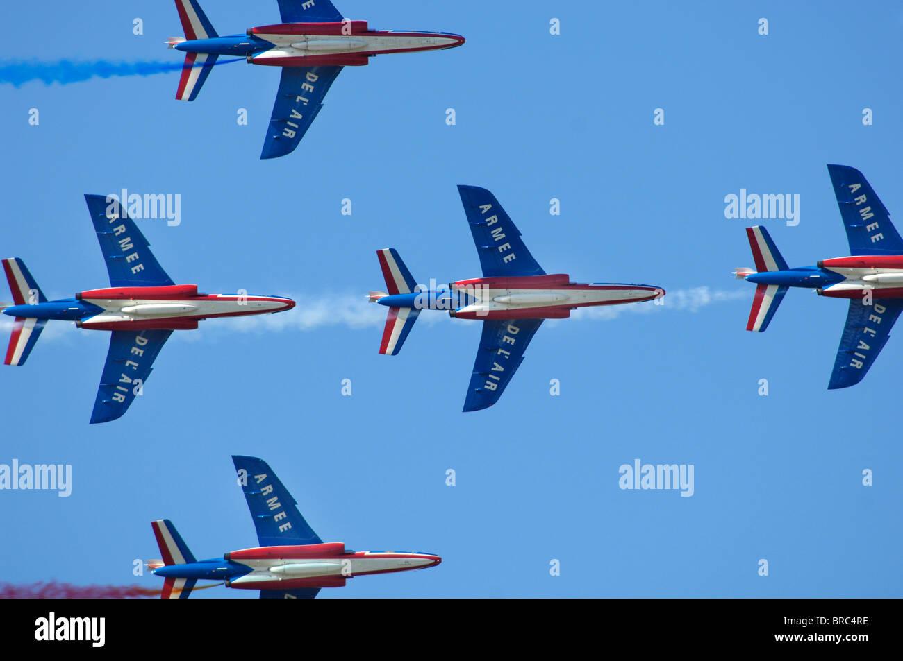 French daredevil aerobatic patrol - Stock Image