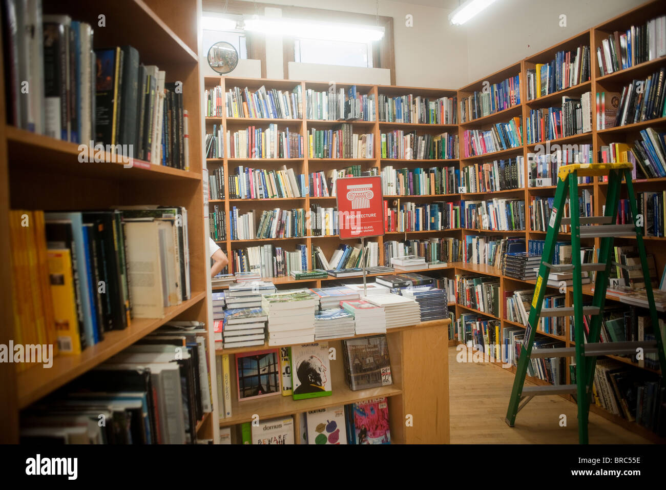 Over 18 miles of books at the Strand Bookstore in the New York neighborhood of Greenwich Village - Stock Image