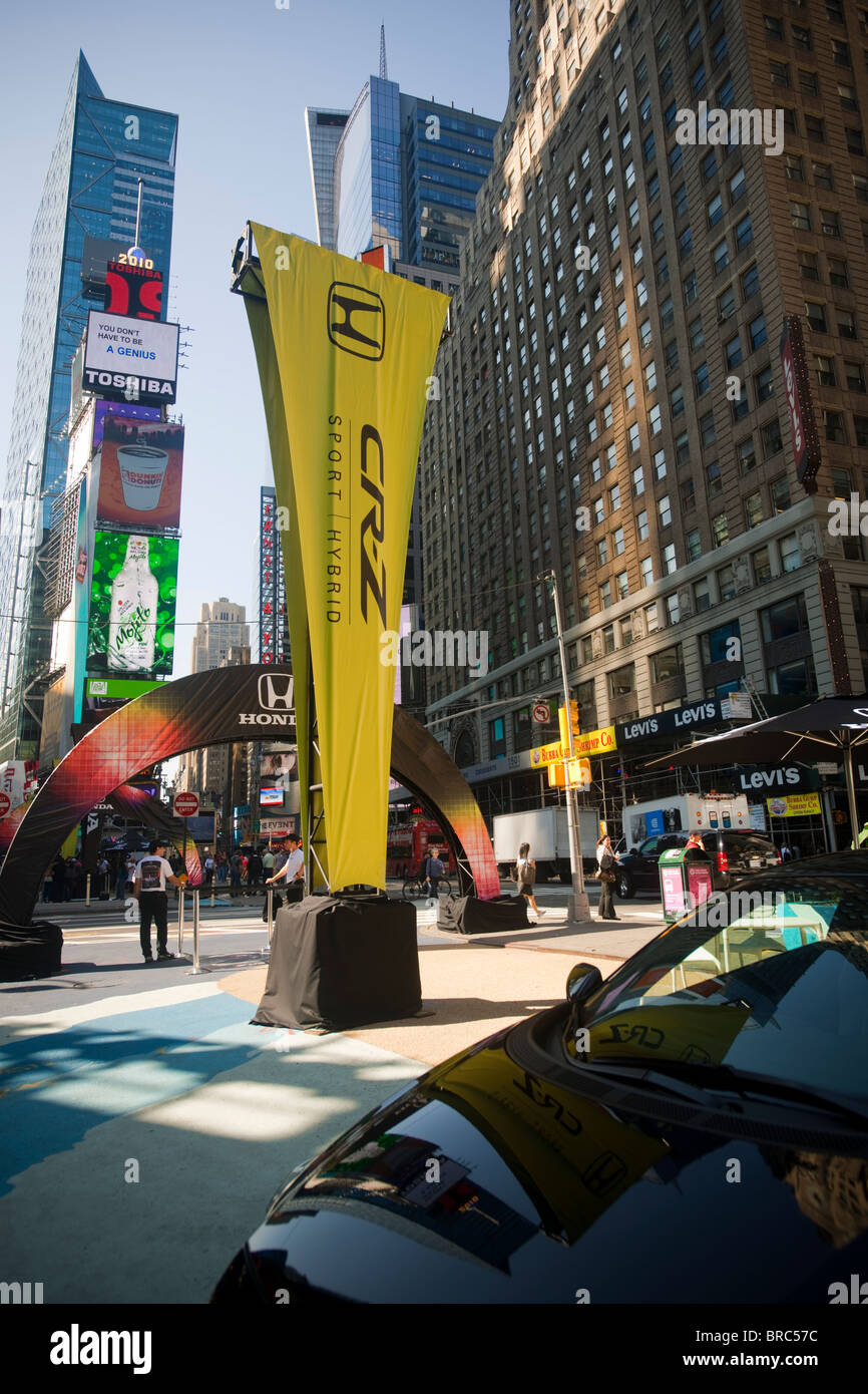 The 2011 Honda CR-Z automobile, a sport hybrid seen in Times Square in New York - Stock Image