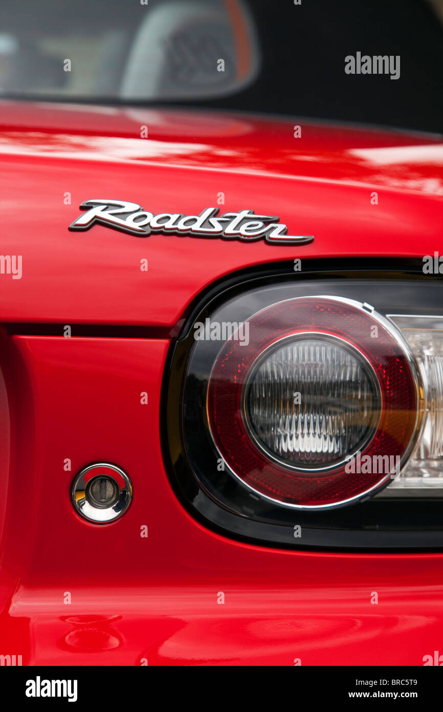 tail of red Mazda MX-5 Roadster - Stock Image