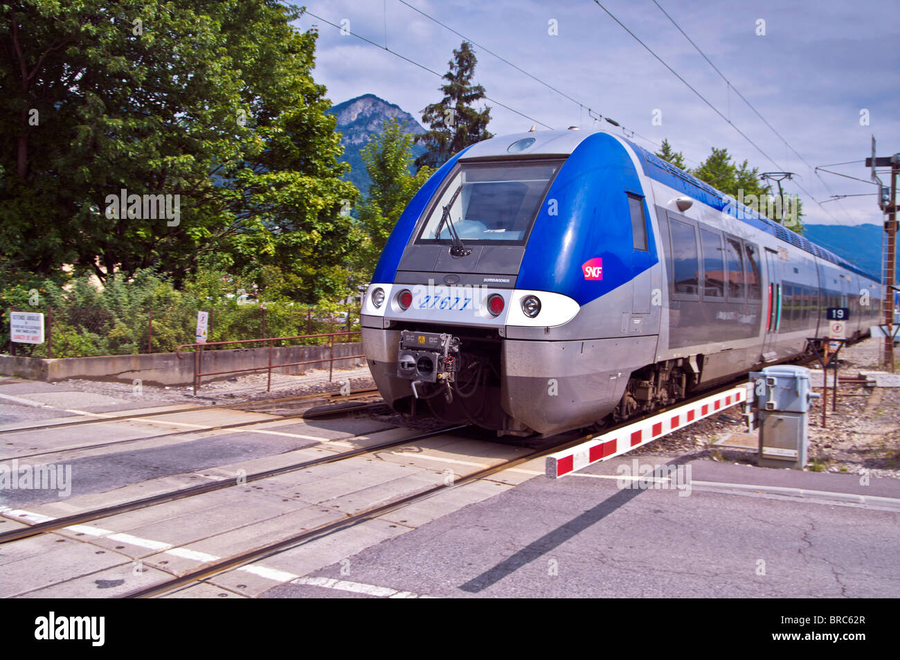 a T.E.R (Train Express Regional) manufactured by Bombardier - Stock Image