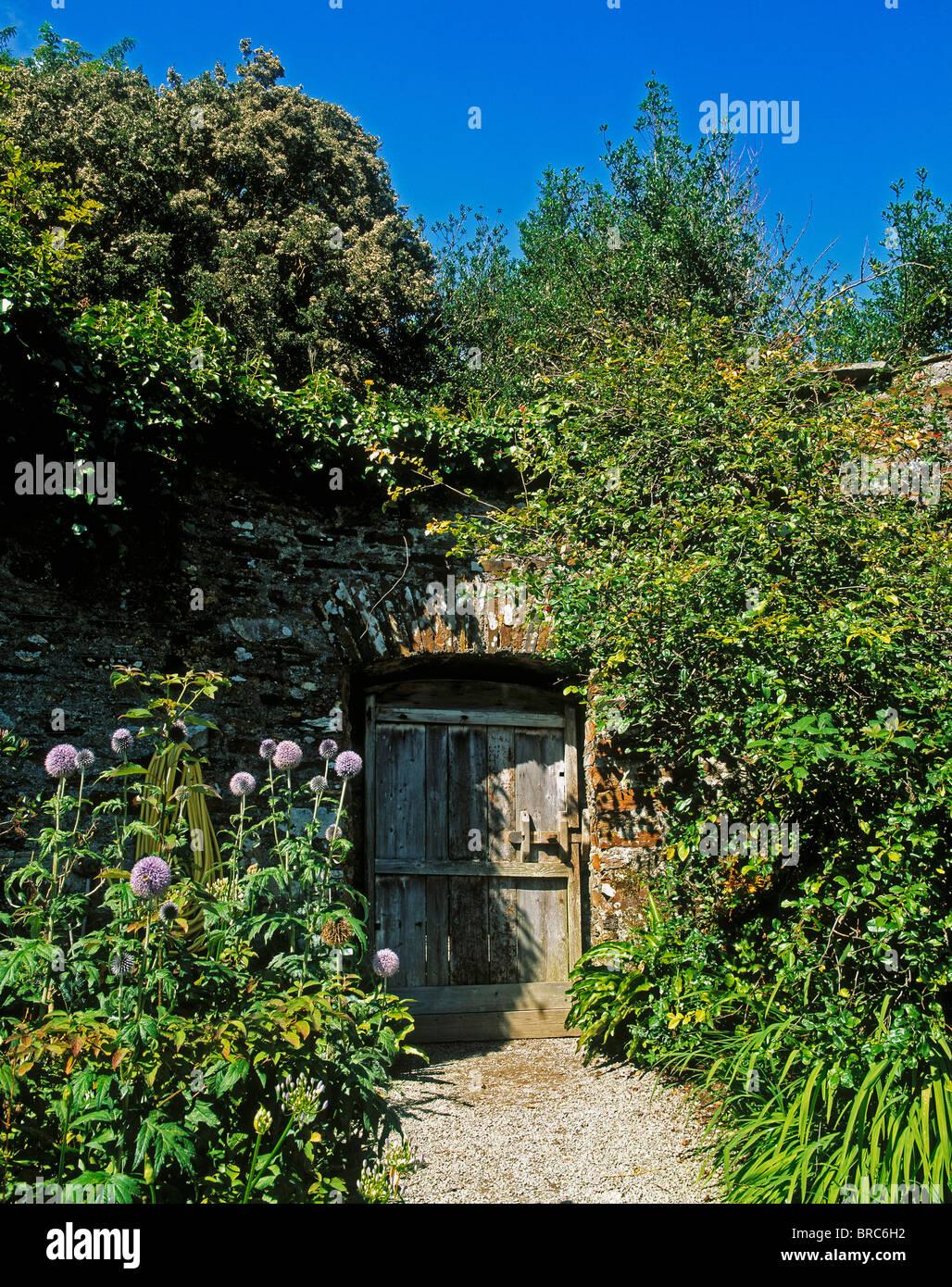 Creagh, Baltimore, Co Cork, Ireland; Old Gate To The Walled Garden Stock Photo