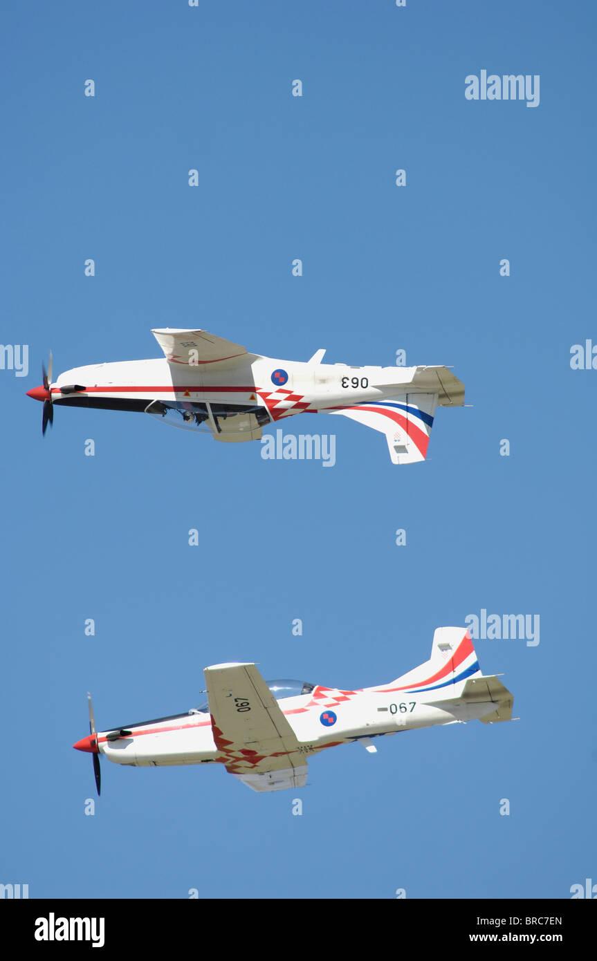 aerobatic propeller turboprop patrol croatia - Stock Image