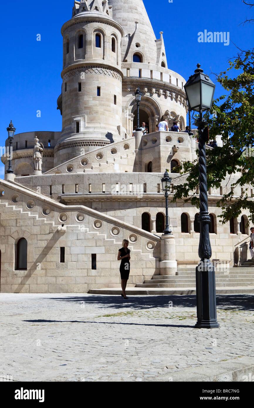 Fisherman's Bastion Budapest Hungary Buda - Stock Image