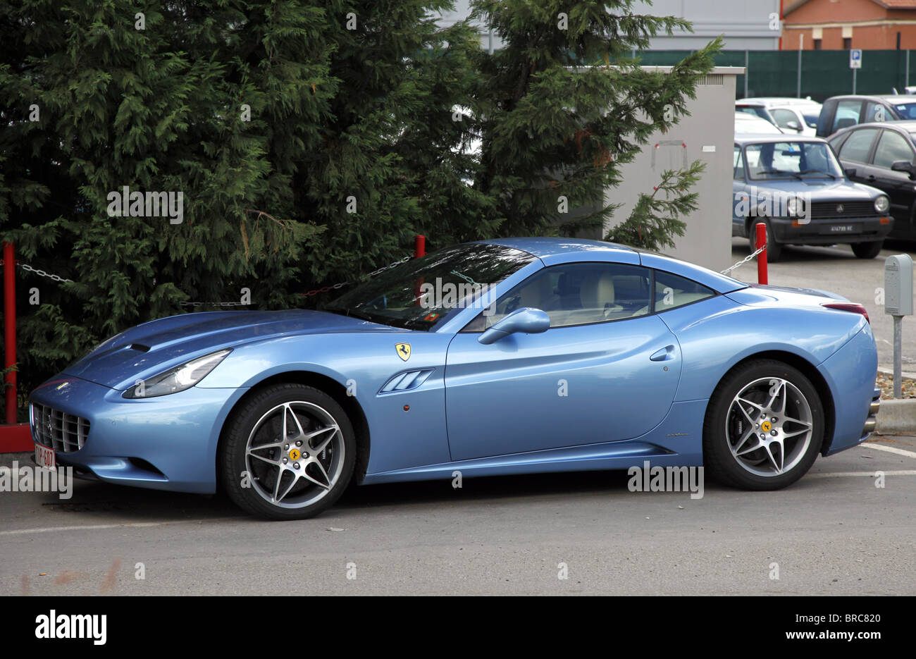 Blue Ferrari California Maranello Italy Maranello Italy Maranello Stock Photo Alamy