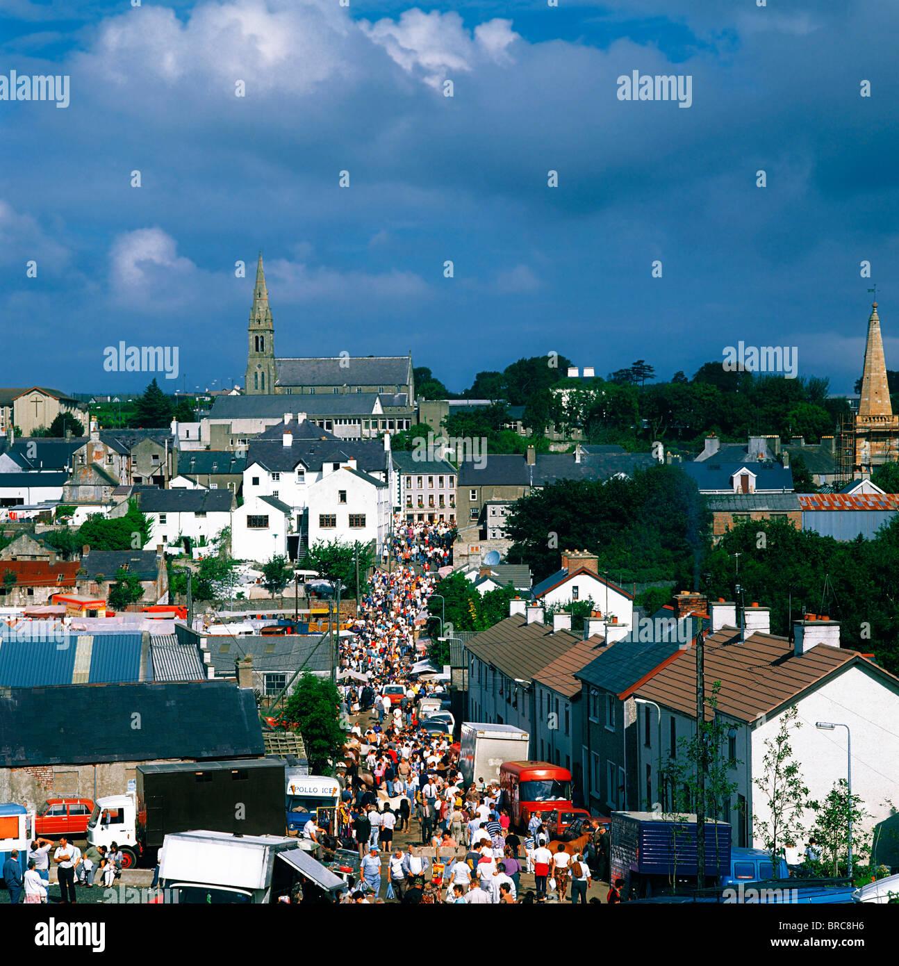 Ould Lammas Fair, Ballycastle, Co Antrim, Ireland; Traditional Fair Associated With The Lammas Harvest Festival - Stock Image