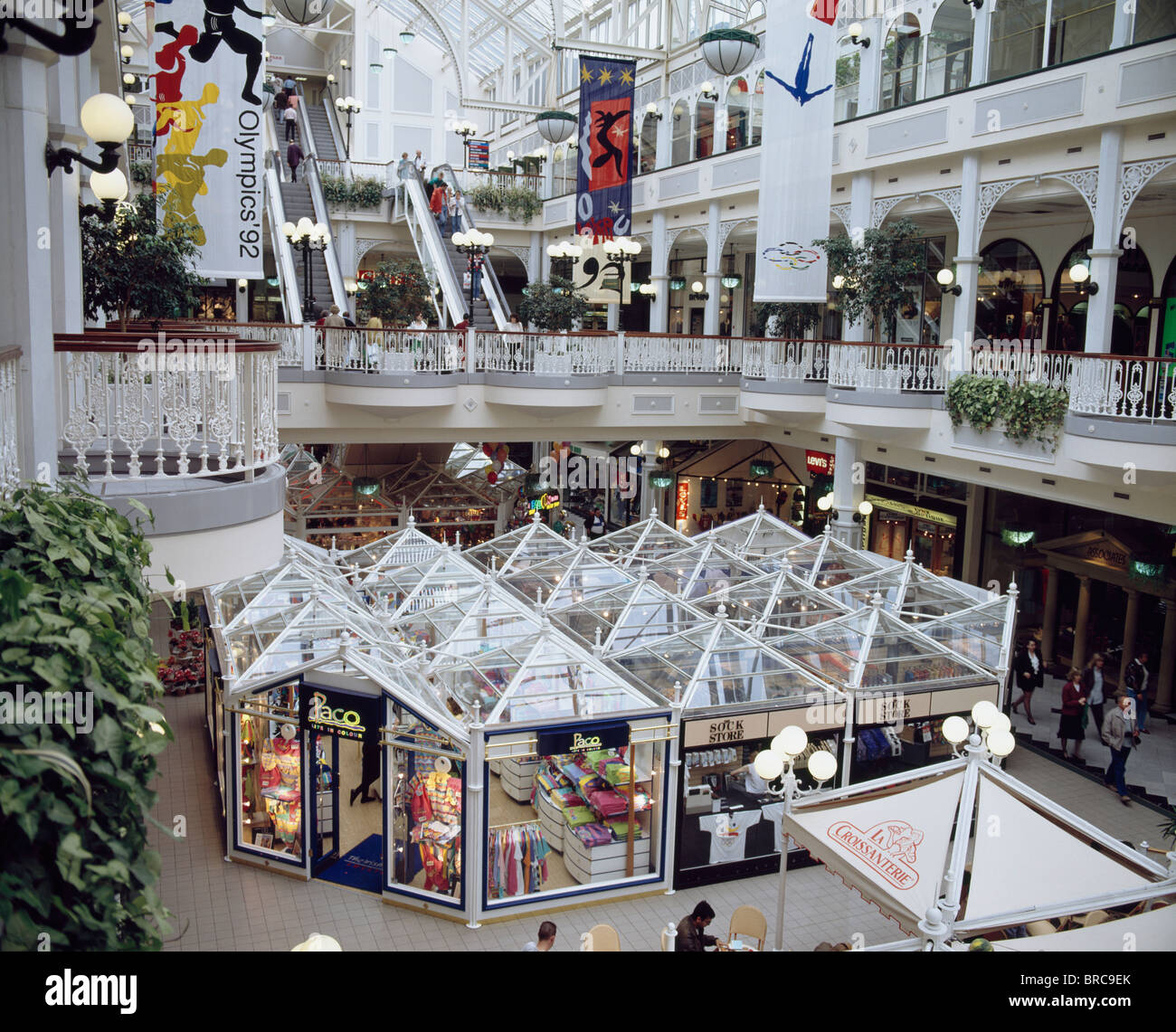 Retail Outlets, St. Stephens Green Centre, Dublin, - Stock Image