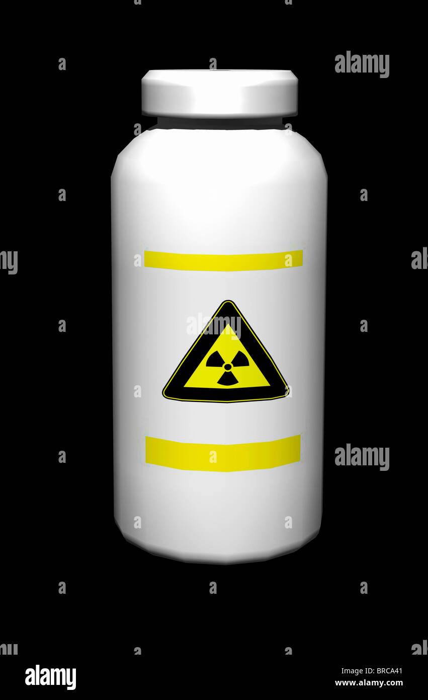radioactive warning sign Stock Photo