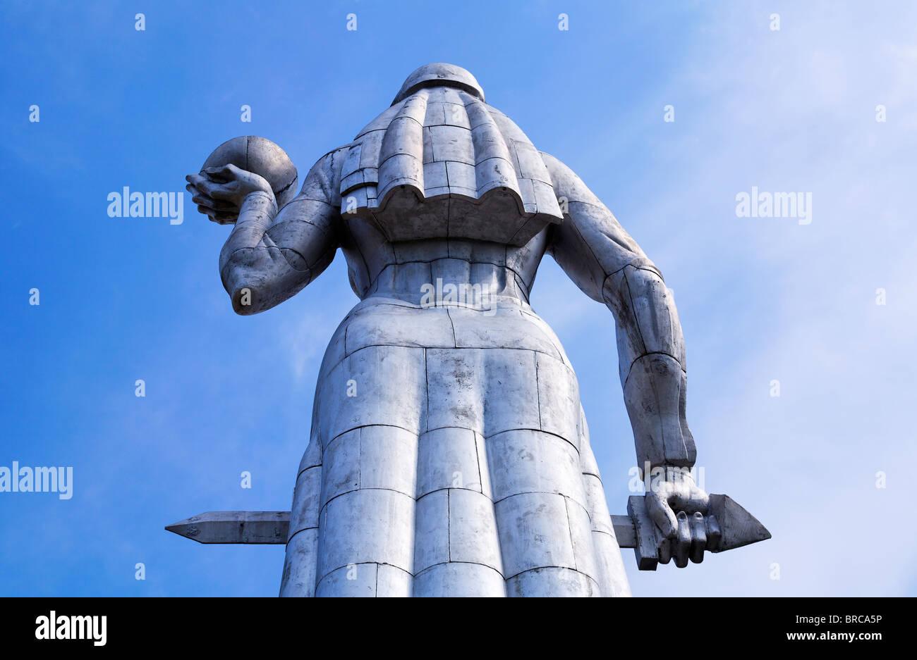The aluminium statue of Kartlis Deda, Mother Georgia, Tbilisi, Georgia Stock Photo