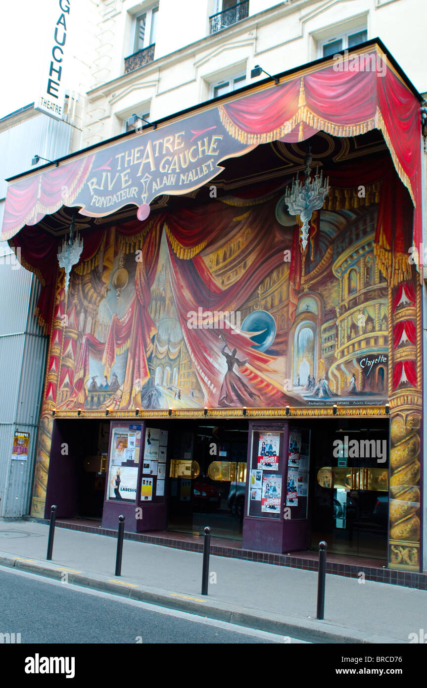 Theatre Rive Gauche, Rue de Gaite, Montparnasse, Paris, France - Stock Image
