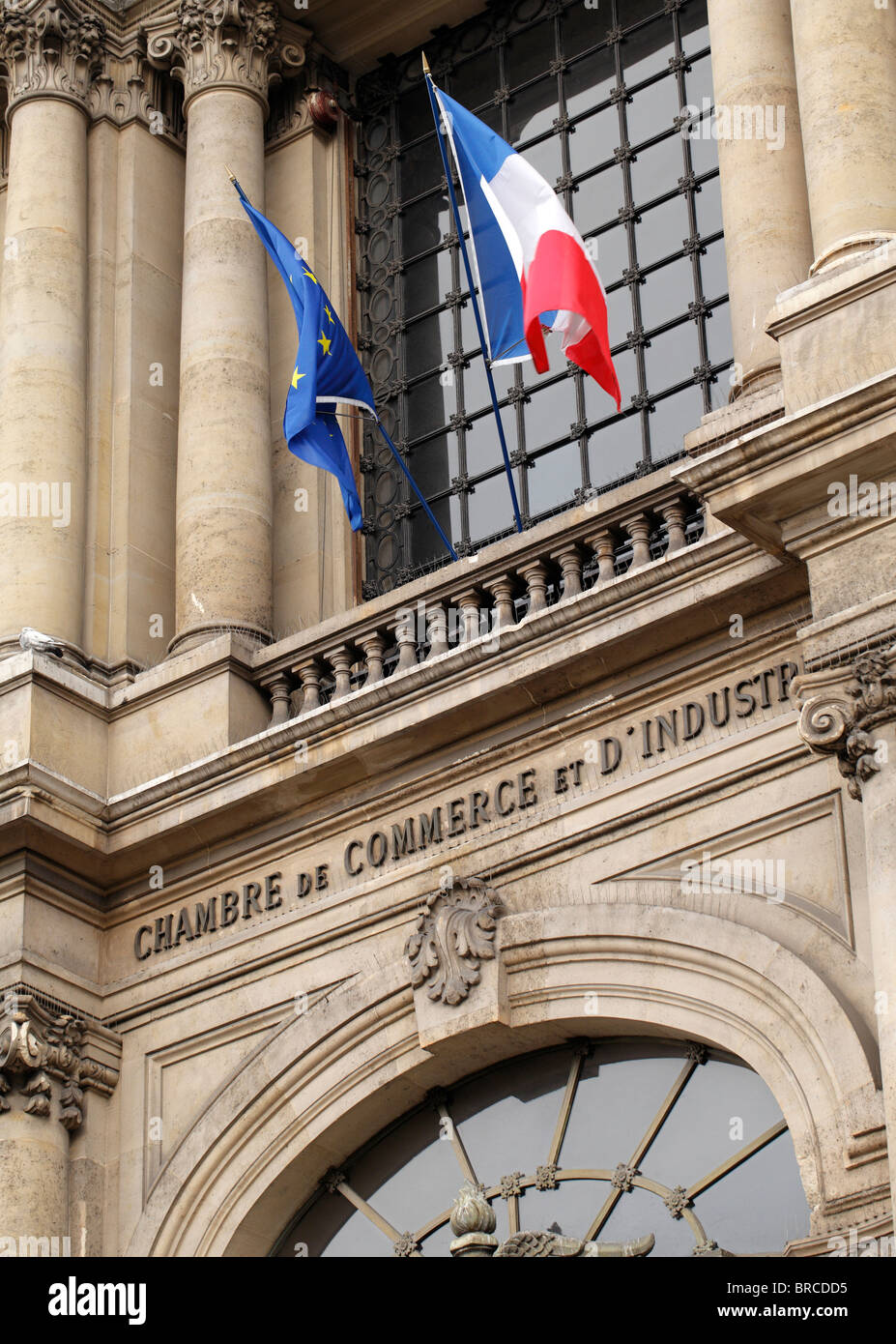A Paris Chamber of Commerce building - Stock Image