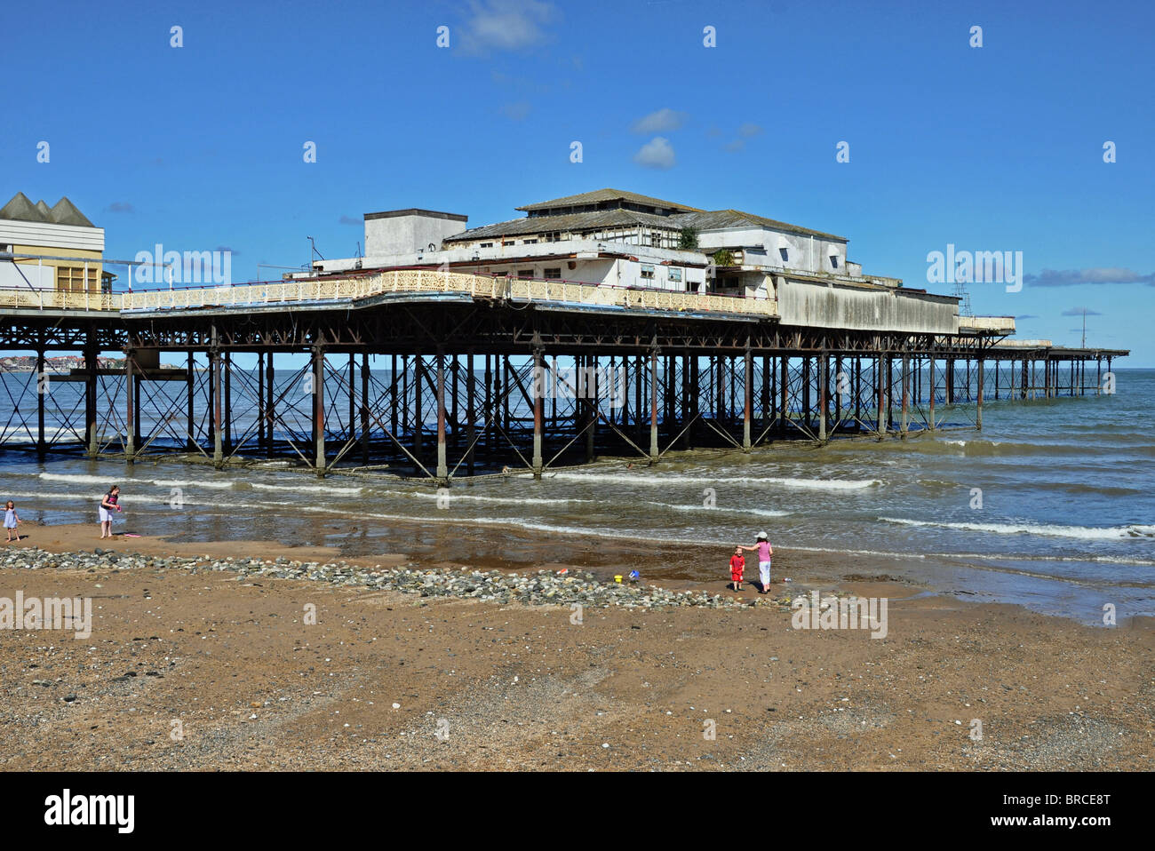 Victoria Pier,Colwyn Bay, North Wales - Stock Image