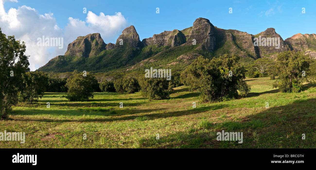 Anahola Mountains, Kauai, Hawaii - Stock Image