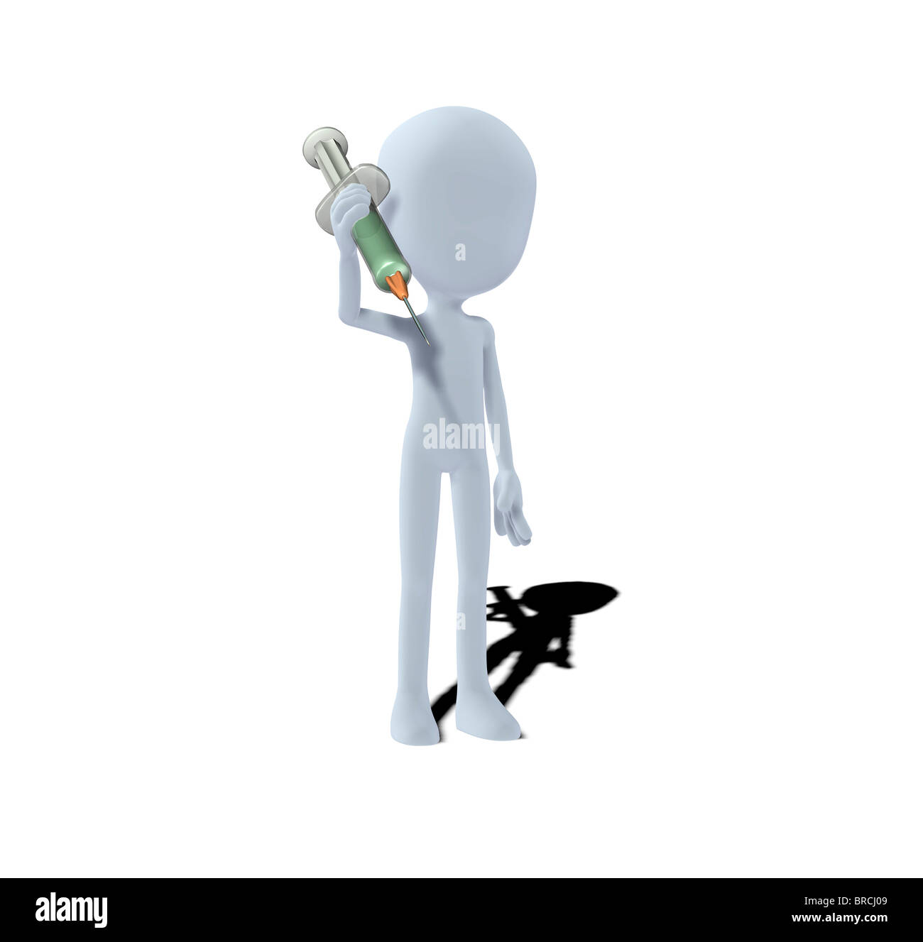 concept figure with syringe - Stock Image