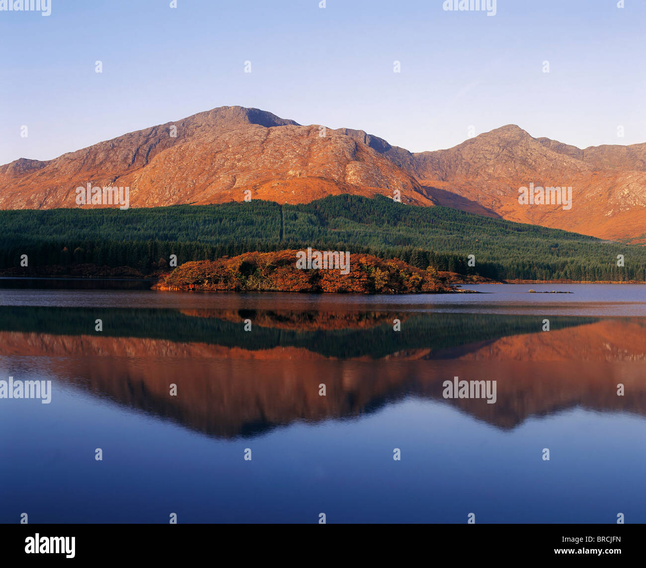 Twelve Bens, Connemara, County Galway, Ireland - Stock Image