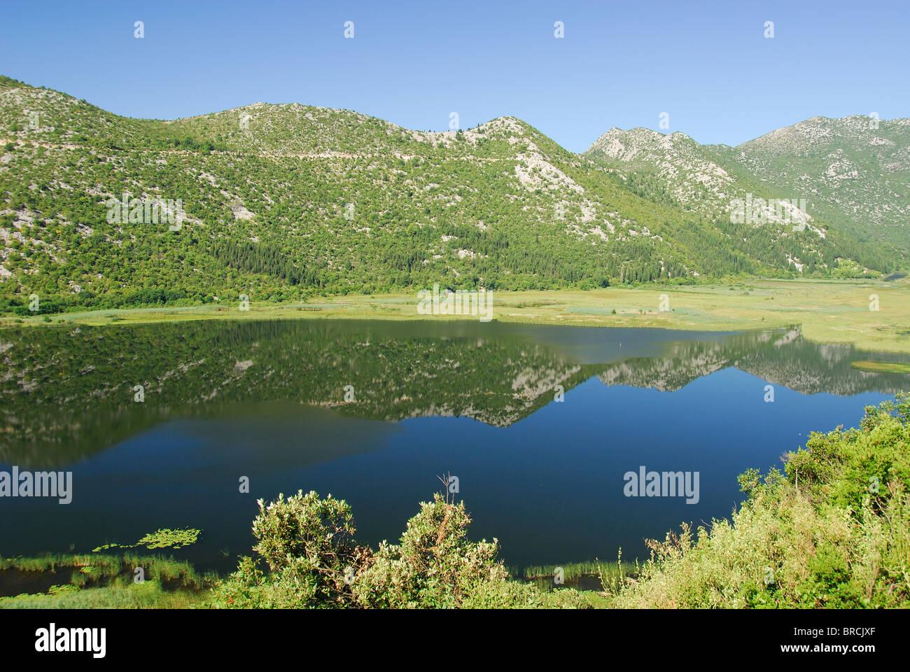 DALMATIAN COAST, CROATIA. The Neretva Delta near Ploce in southern Dalmatia. - Stock Image