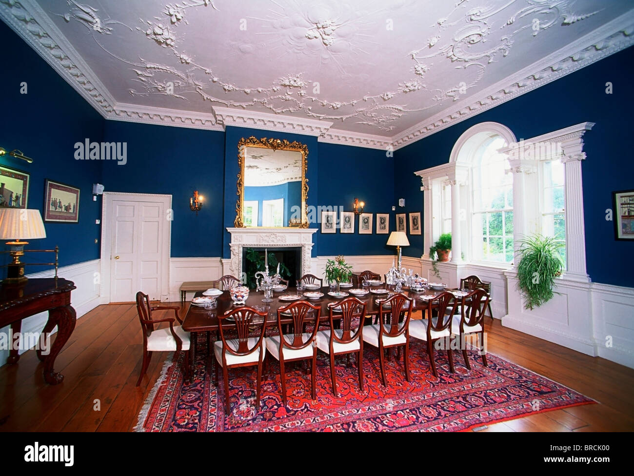 Ireland 18th century house interior stock photos ireland