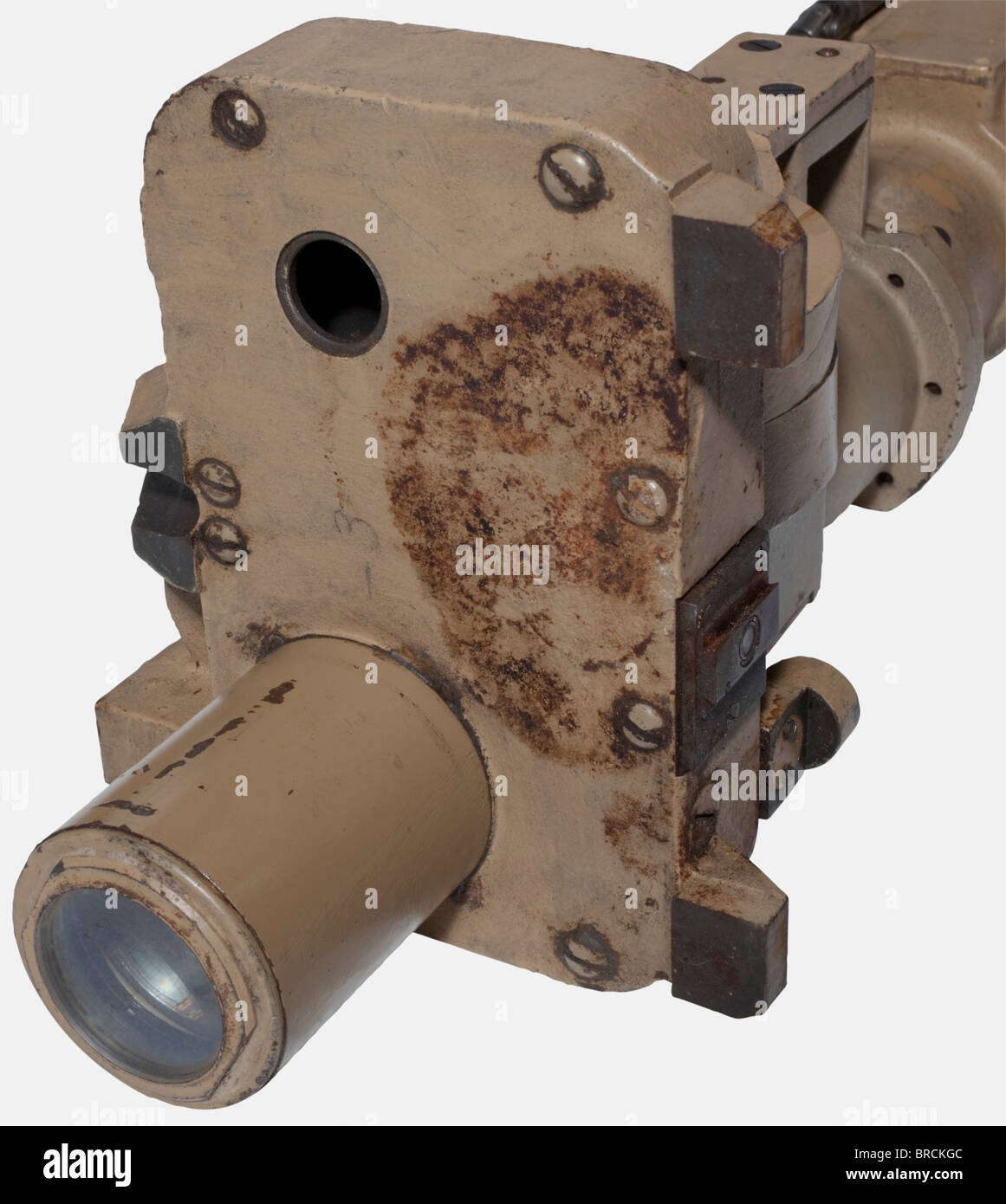 A turret telescope, for a Panzer V 'Panther' SdKfz 171 Sand-coloured lacquered housing, inscribed, 'dhv - Stock Image
