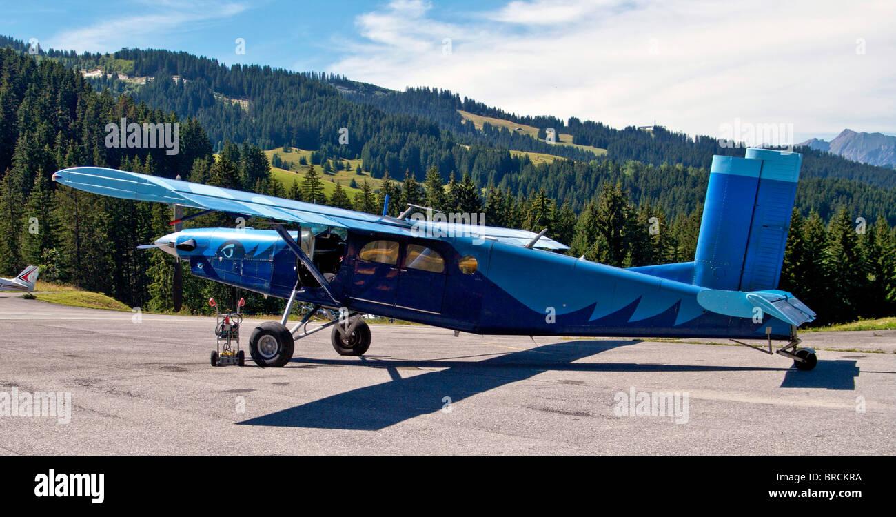 Pilatus PC 6 STOL Turboprop aircraft - Stock Image