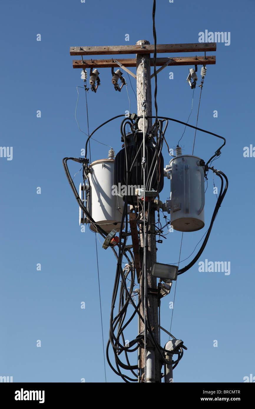 electric pole transformers BRCMTR electric pole transformers stock photos & electric pole transformers