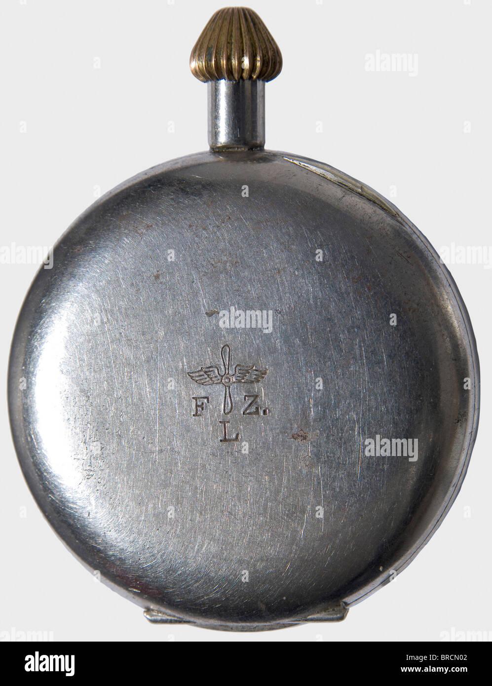 Manfred Freiherr von Richthofen (1892 - 1918) - an aviator watch in a propeller segment., Iron case, the crown at - Stock Image