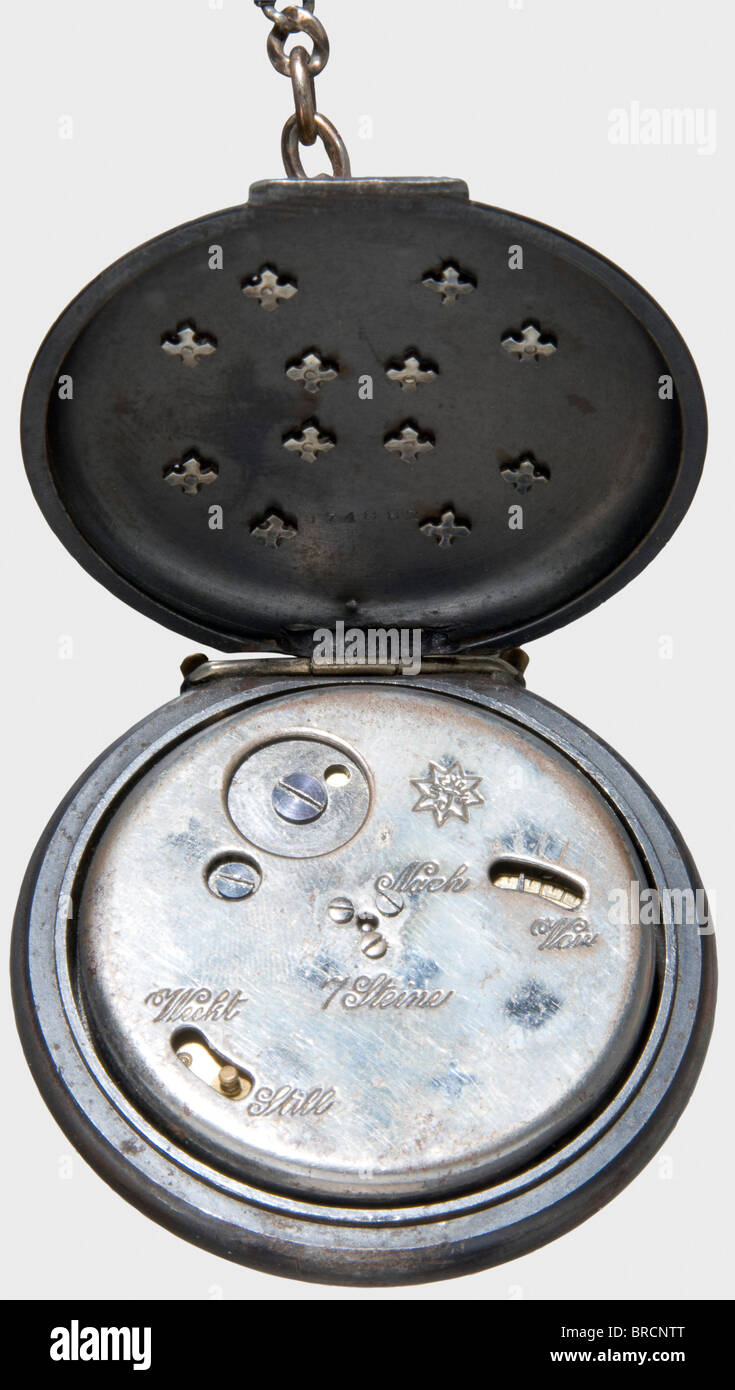 Oberleutnant Max Immelmann (1890 - 1916), a pocket alarm watch, a gift on his award of the Iron Cross 1st Class - Stock Image